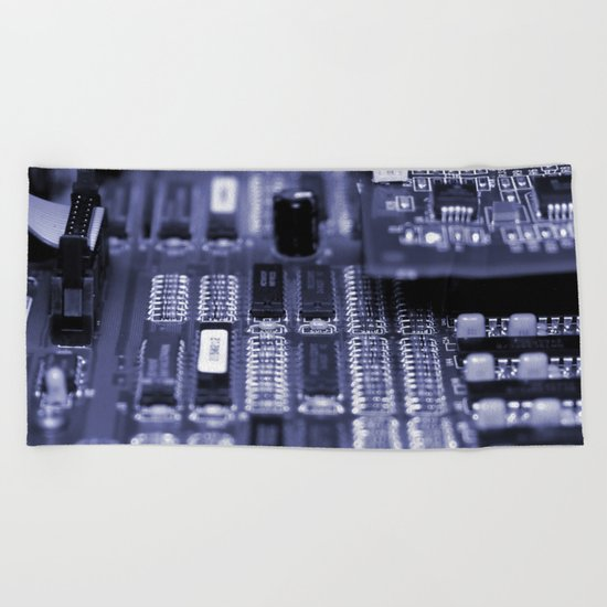 Motherboard Beach Towel