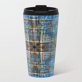 Plaid Construction Travel Mug
