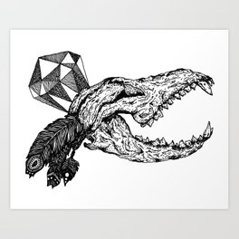 Diamond in the Rough Print Art Print