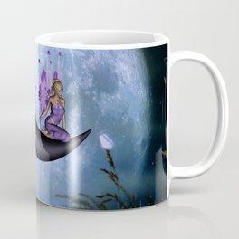 Beautiful fairy sitting on the moon Coffee Mug