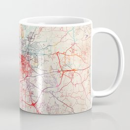 Greensboro map North Carolina painting Coffee Mug