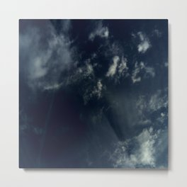 Cloud and sky 13 -cloud, sky, blue, positive,optimism Metal Print