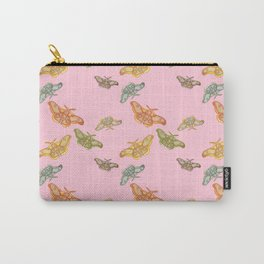 Pink Polyphemus Moths Carry-All Pouch