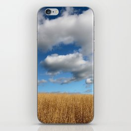 A dramatic Cloudy Sky over a Golden Field iPhone Skin