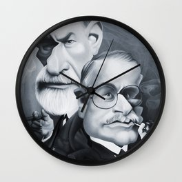 Sigmund Freud and Carl Jung Wall Clock