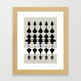 016 - Tribal Intersecting 2 Framed Art Print