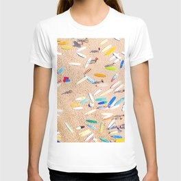 Surfboards Laying on the Beach T-shirt
