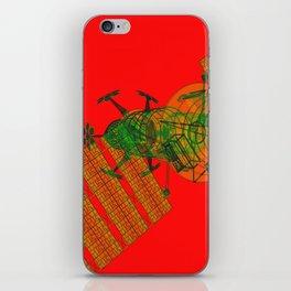 Explorer Schematic Warped Green on Red iPhone Skin