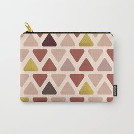 Soft Triangles - Warm gold Carry-All Pouch