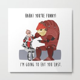 Mass Effect - Wrex and Mordin Metal Print