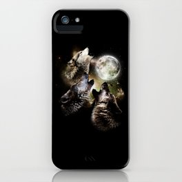Great Graphic Design Three Wolf Moon iPhone Case