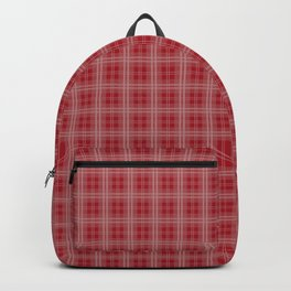 Christmas Cranberry Red Jelly Tartan Plaid Check Backpack