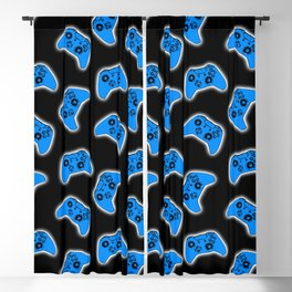 Video Game Blue Blackout Curtain