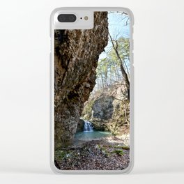 Alone in Secret Hollow with the Caves, Cascades, and Critters, No. 16 of 21 Clear iPhone Case