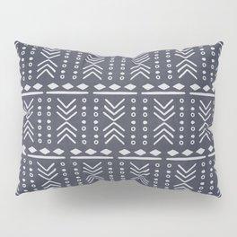Denim Mudcloth Pillow Sham