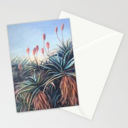 Aloe plant_oil painting Stationery Cards
