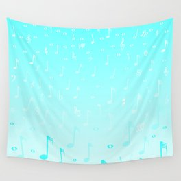 Snowing Music Wall Tapestry