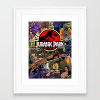 jurassic park Framed Art Prints featuring Jurassic Park by JHall