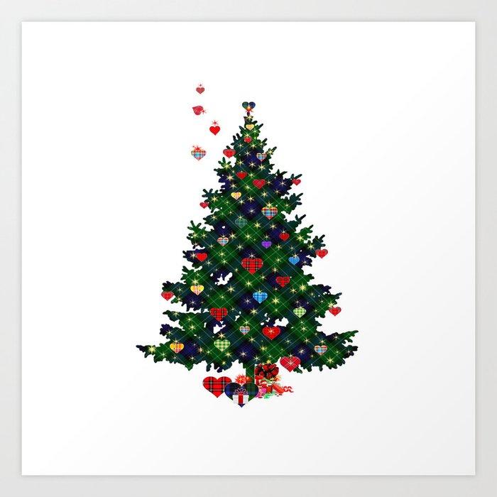 Sunday's Society6 | Christmas tree art print