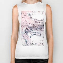 Abstract marbled saturated Biker Tank