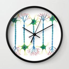 Neuron 5 in White Wall Clock