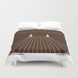 No244 My KINGPIN minimal movie poster Duvet Cover
