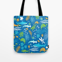 Sharks, Sting Rays and Turtles Tote Bag