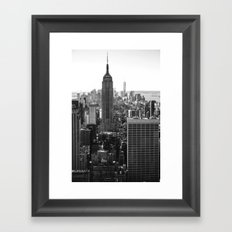 Empire State II (From the Top of the Rock) - b&w Framed Art Print