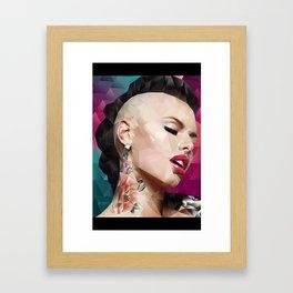 Christy Mack is back. Framed Art Print