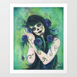 Adelita day of the dead Art Print