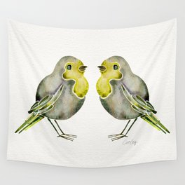 Little Yellow Birds Wall Tapestry