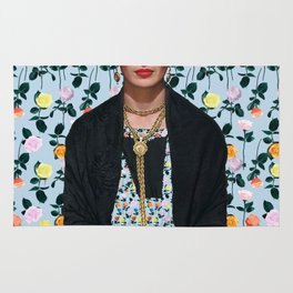 Flowers Frida Kahlo IV Rug