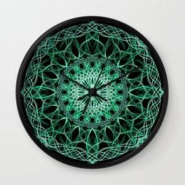 Luminous Knot Mandala Wall Clock