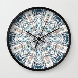 Neutral Soft Palette Tone Bohemian Mandala Wall Clock