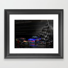 Yes, they have #NASCAR in Heaven! Framed Art Print