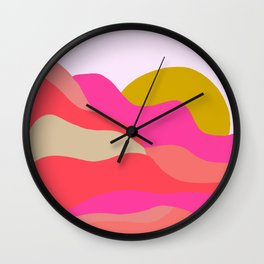 Adelaida, mountain sunset Wall Clock