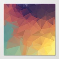 polygon Canvas Prints featuring Polygon by Zhavorsa