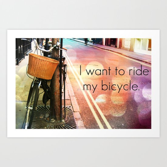 bicycle race Art Print