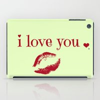 valentine iPad Cases featuring VALENTINE by notes and notes