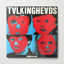 Talking Heads - Remain in Light Metal Print