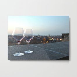 The Orange Garden - Drinking Wine with a View of Rome Metal Print