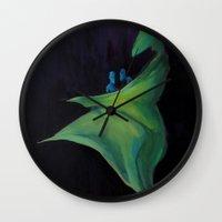 mom Wall Clocks featuring Mom by Lisseau Design Lab
