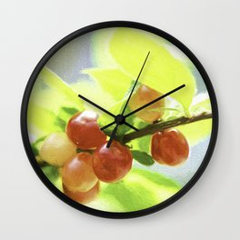 nanking cherry Wall Clock