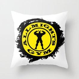 Allmight Gym Boku No Hero academia my hero academia Throw Pillow