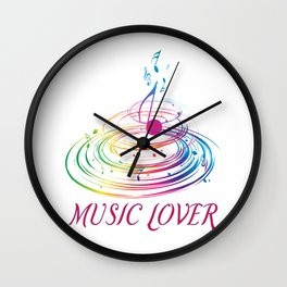 Music Themed T Shirts Colorful Graphic Wall Clock