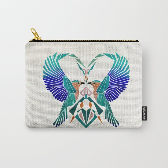couple of blue birds Carry-All Pouch