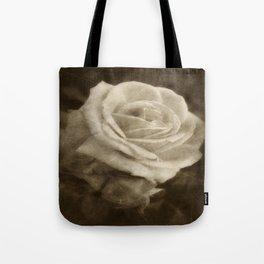 Pink Roses in Anzures 2 Antiqued Tote Bag