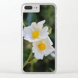 White Malva Clear iPhone Case