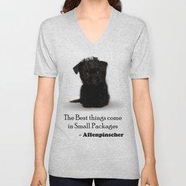 Affenpinscher Puppy Love Unisex V-Neck