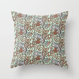 Yarnball Kitty Cat Throw Pillow